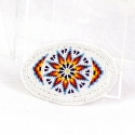 Hand-beaded Belt Buckle by Connie Hart Yellowman